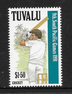 TUVALU-1991-9th-SOUTH-PACIFIC-GAMES-Single-CRICKET-1v-MNH