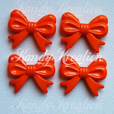 DIY necklaces 1 or 5 pieces 46x36mm orange bow tie chunky bubblegum beads