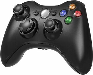 Wireless Gamepad Video Game Controller for Microsoft Xbox 360 Black Brand New US