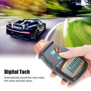 Digital-LCD-Laser-Beruehrungsloser-Tachometer-Foto-Drehzahlmesser-RPM-Tester