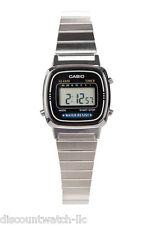 Casio LA670WD-1D Ladies Silver Classic Stainless Steel Digital Watch Alarm Timer