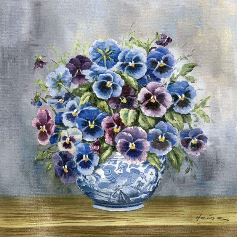 Poster oder Leinwand Bild A. Heins Botanik Blaumen Malerei Blau B7ZQ