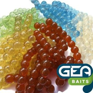 Uova-di-salmone-Morbido-Esche-8mm-Pesca-Carpa-Trota-Fly-Fishing-Bait-yelly