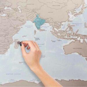 Cartina Mondo Gratta.Mappamondo Da Grattare Poster Xxl Mappa Del Mondo Politica 88 X 52cm Cartina Geo Ebay