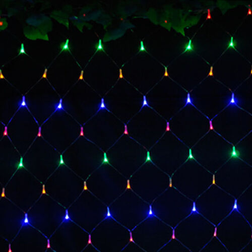 LED String Fairy Lights Lamp Curtain Net Mesh Party Wedding Decor Indoor//Outdoor