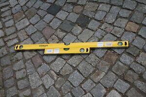 Stanley-2er-SET-Wasserwaage-WW-gelb-40-100-cm-Bandmass-amp-Bleistift