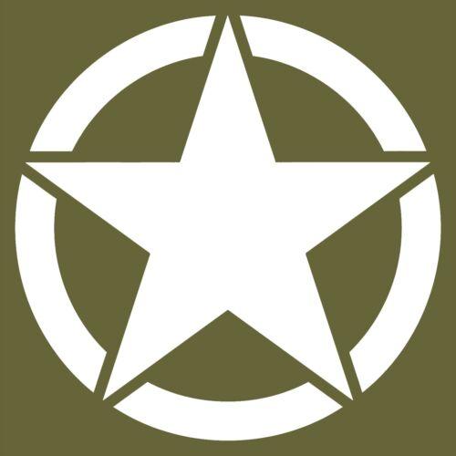 ARMY STAR MILITARY JEEP//AUTOMOTIVE 10 YEAR PREMIUM VINYL DECAL//STICKER 3-22in