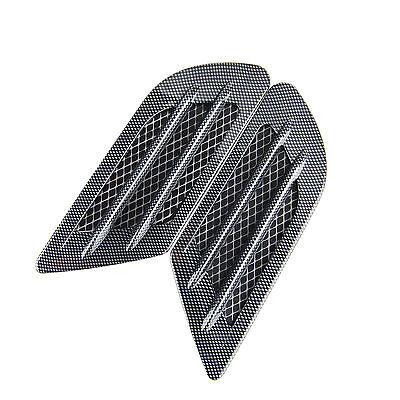 1 pair Car Fake Carbon Fiber Style Decorative Air Vent Hood Scoop Sticker Covers