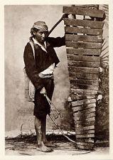 Indian Marimba Player≈Guatemala c.1900≈Photo POSTCARD