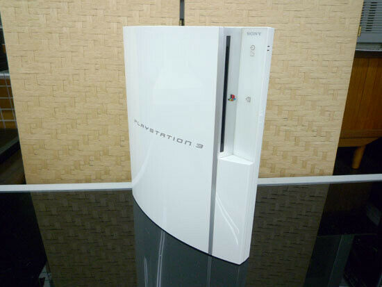 Sony PLAYSTATION 3 PS3 Ceramic White 80GB Game Console Only Tested