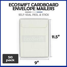 50 9 X 115 Self Seal White Photo Ship Flats Cardboard Envelope Mailer Mailers
