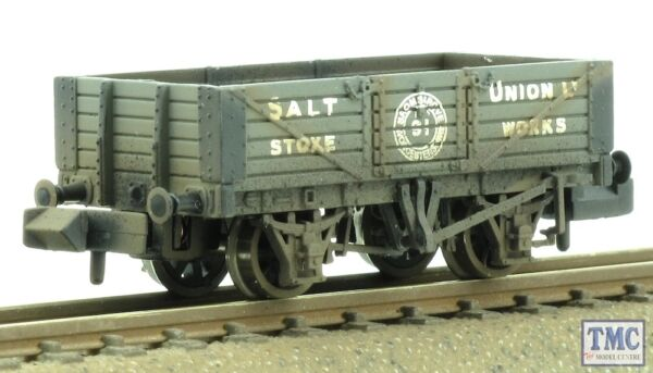 100% De Qualité 377-059 Graham Farish N Gauge 5plank Wagon Wooden Floor Salt Union Tmc Weathered Correspondant En Couleur
