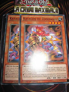 YU-GI-OH-COM-KATACOQ-DU-ZOODIAQUE-MACR-FR027-PLAYSET-LOT-2-CARTES-NEUF-MINT