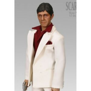 Sideshow 30cm Exclusive Figurine Action 12 po Scarface Tony Montana Nouveau   Talking Action Figure New