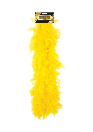 BOA PIUME GIALLO-Accessorio Costume Fancy Dress Up Flapper anni 1920 Hen Night