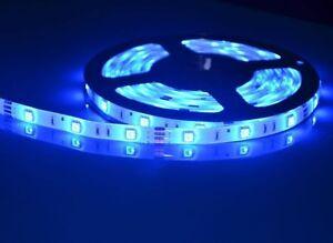 24v-5m-brillo-color-azul-SMD5050-300leds-Armario-Bajo-Tira-Cinta-Luz