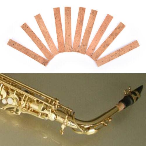 10X Klarinetten Kork Blatt Saxophon Korken Musikinstrumente Flöte Blatt KorRSPF