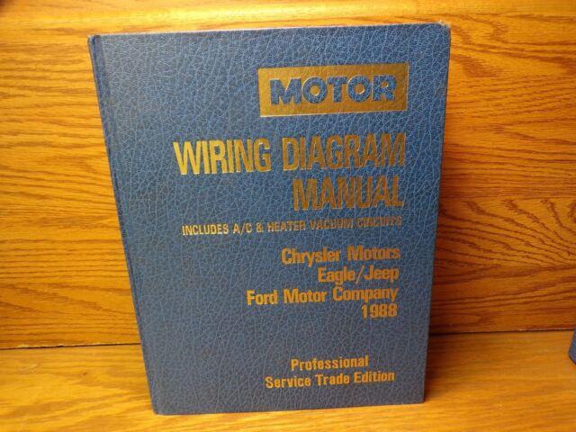 Motor Wiring Diagram Manual Chrysler Eagle Jeep Ford 1988