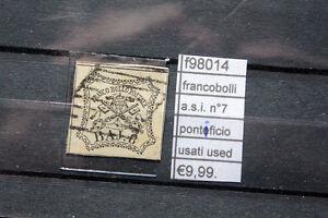 FRANCOBOLLI-ASI-PONTIFICIO-N-7-USED-USATI-F98014