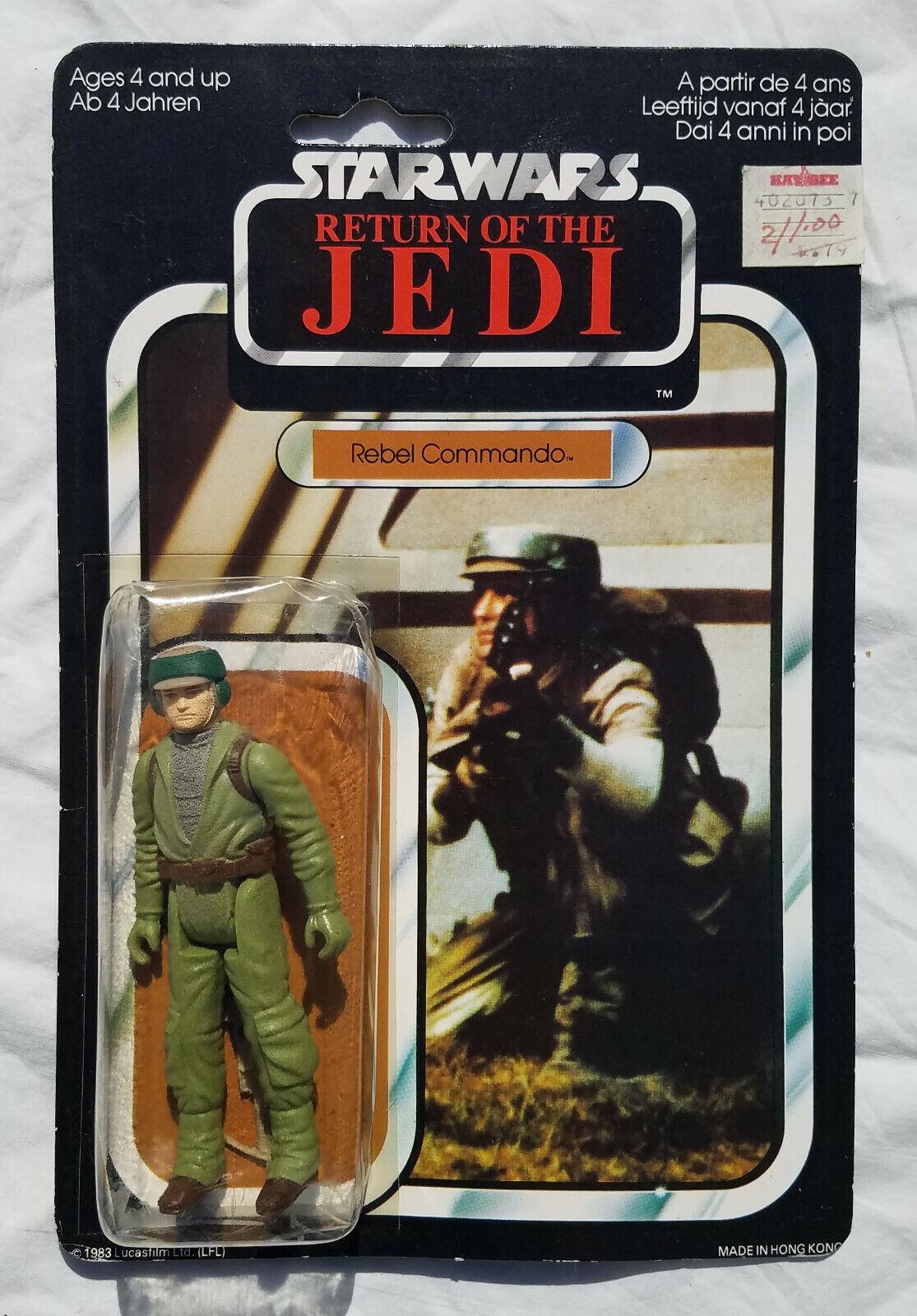 comprar nuevo barato Estrella Wars Wars Wars Rebel Commando Figura De Acción Vintage Cochedada menta en tarjeta PaliJuguete 65 Back-a 1983  precios ultra bajos