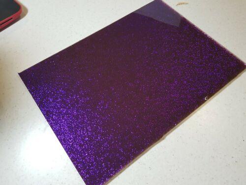 A3 SUPER PURPLE GLITTER PERSPEX SHEETS CAKE DECOR ARTS CRAFTS