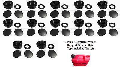 4 PK WEDCO BRIGGS Gas Can BASE SOLID CAPS Blind Closed Storage Lid VITON GASKET
