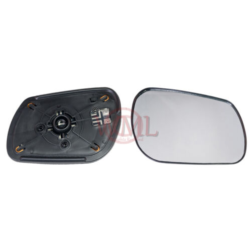 MAZDA 3 2003-/>2008 DOOR//WING MIRROR GLASS SILVER CONVEX,HEATED /& BASE,RIGHT SIDE