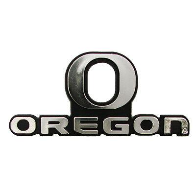 Oregon Ducks Classic Auto Emblem New Silver Car Decal