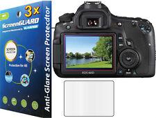 3x Anti-Glare Matte LCD Screen Protector Guard Canon Rebel EOS 60D / 600D T3i