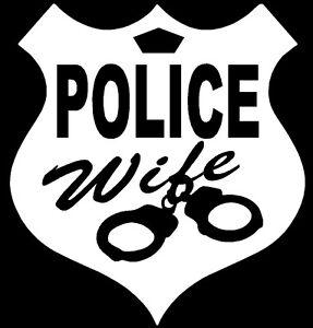 "Police Wife Vinyl Decals Stickers 5/"" x 5/"""