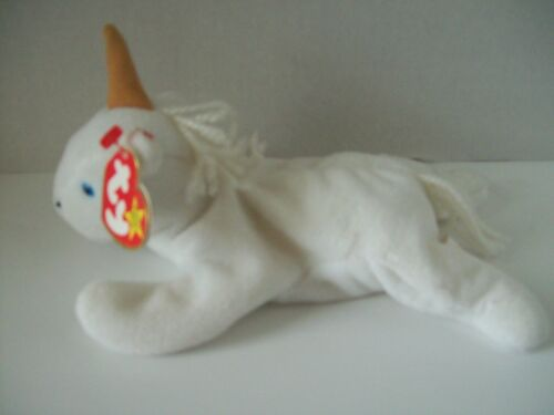 Ty Beanie Babies~4th Generation~Mystic The Unicorn Brown Horn~Good Heart Tag~E4