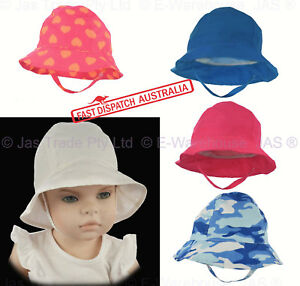 Girl Boy Toddler Baby Bell Beach Outdoor Reversible Bucket Sun Hat ... 77ef5b799919