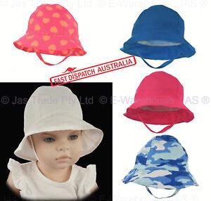 Girl Boy Toddler Baby Bell Beach Outdoor Reversible Bucket Sun Hat ... c96adf5c3514