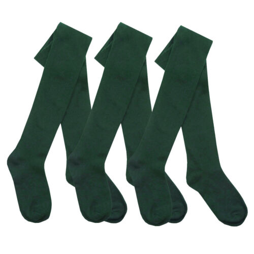 All Sizes 1 Girls Plain Cotton Rich Back To School Children/'s Tights