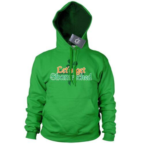 Permet de se rendre shamrocked St Patricks Jour Sweat à capuche Ireland Irish Sweat à Capuche Cadeau ivre P14