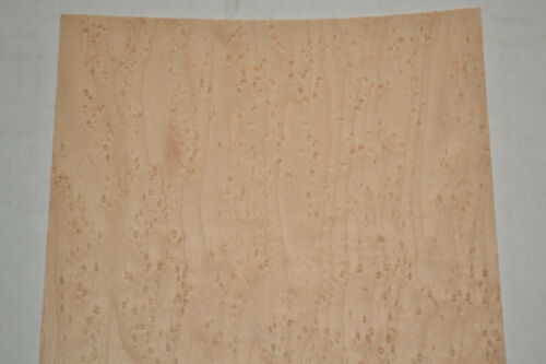 Birdseye Maple Raw Wood Veneer Sheets 6 x 26 inches  1//42nd thick      8631-22