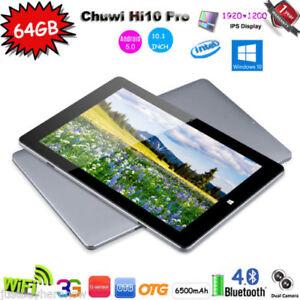 4GB-64GB-Chuwi-Hi10-Pro-10-1-034-Tableta-PC-Win10-Android-5-1-Quad-Core-2in1-Tablet