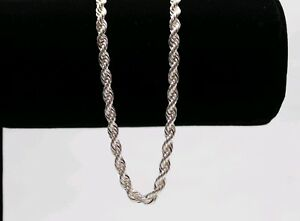 Italian-Made-4mm-24inch-Diamond-cut-925-Sterling-SILVER-Rope-Chain