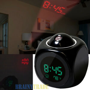 Alarm Clock Led Wall Ceiling Projection Lcd Digital Voice