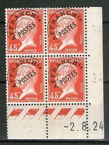 COIN-DATE-PREO-67-NEUF-GOMME-ORIGINALE-PASTEUR-DU-02-08-1924