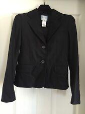 Women's Celine Black Virgin Wool Suit Jacket Size 36