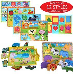 3D bébé enfants en bois puzzle Puzzle Jouets éducatifs Preschool Learning Toy UK
