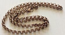 Fabulous Quality Vintage Heavy Solid 9ct Rose Gold Belcher Neck Chain Superb 19""