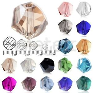72-100pcs-4-6-8-10mm-Helix-Loose-Faceted-Crystal-Beads-Jewelry-Findings-Lots