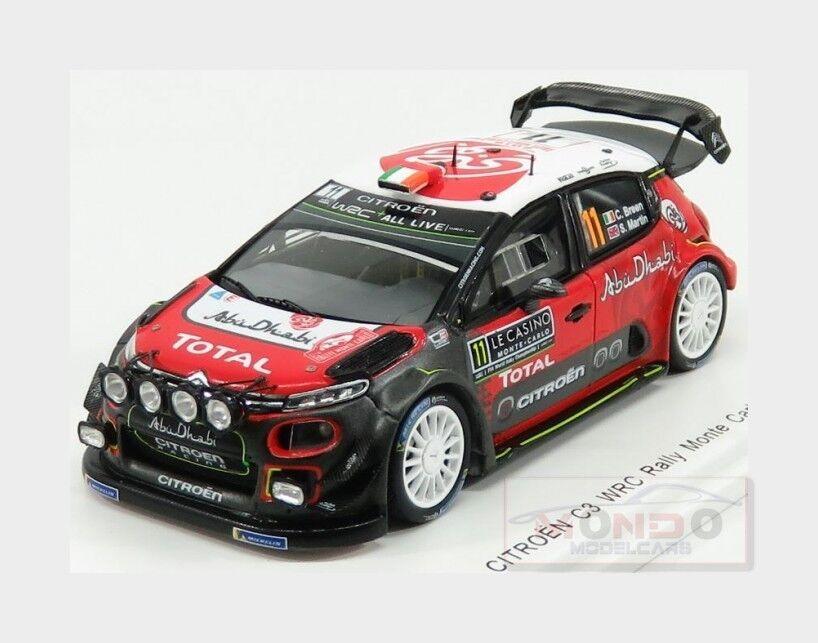 Citroen C3 Wrc Abu Dhabi Wrt  11 Rally Montecarlo 2018 C.Breen SPARK 1 43 S5961