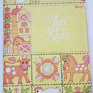 Vintage Stationery, Current Just A Note, Farm Barn Animal Postalettes with Seals