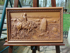 Ilia-Muromets-and-the-stone-of-fate-Wood-sculpture-carving-baso-relief