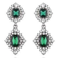 Bold Green Fashion Women Jewelry Lady Elegant Crystal Ear Stud Earrings 1 Pair