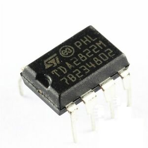 50PCS IC TDA2822 DIP-8 ST AMP AUDIO DUAL LOW VOLT NEW TDA2822M