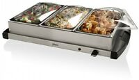 Buffet Hot Holding Pans Food Warmer Game Food Snacks Server Steel Party Dining